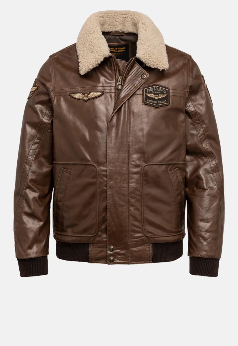 PME Legend Hudson Bomber Leather Jacket