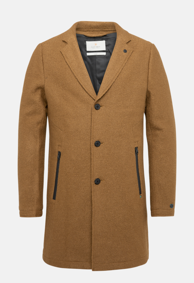 Cast Iron Roadture Boiled Wool Coat Jas