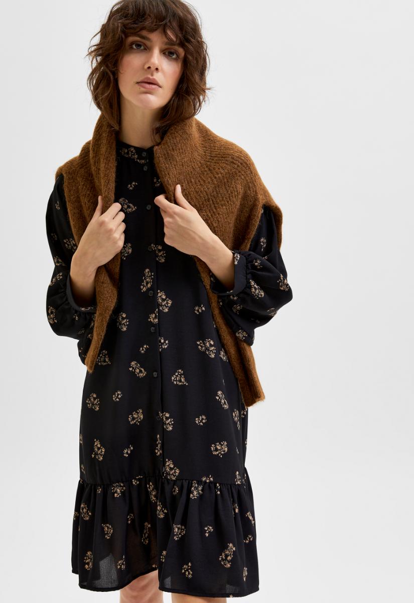 Selected Femme Margunn 7/8 Dress Jurk Midi