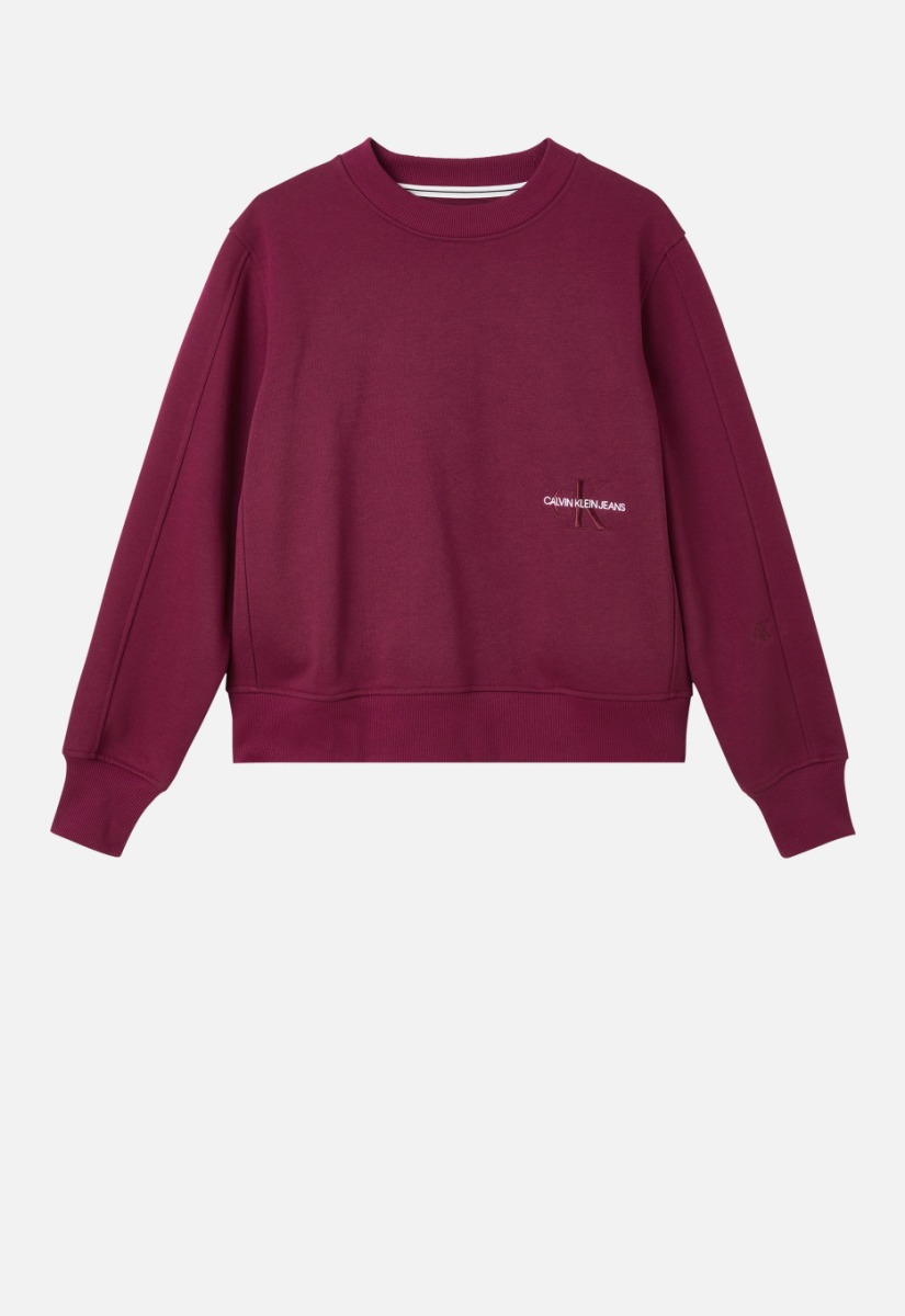 Calvin Klein J20J216235 Off Placed Monogram Crew Neck Sweater