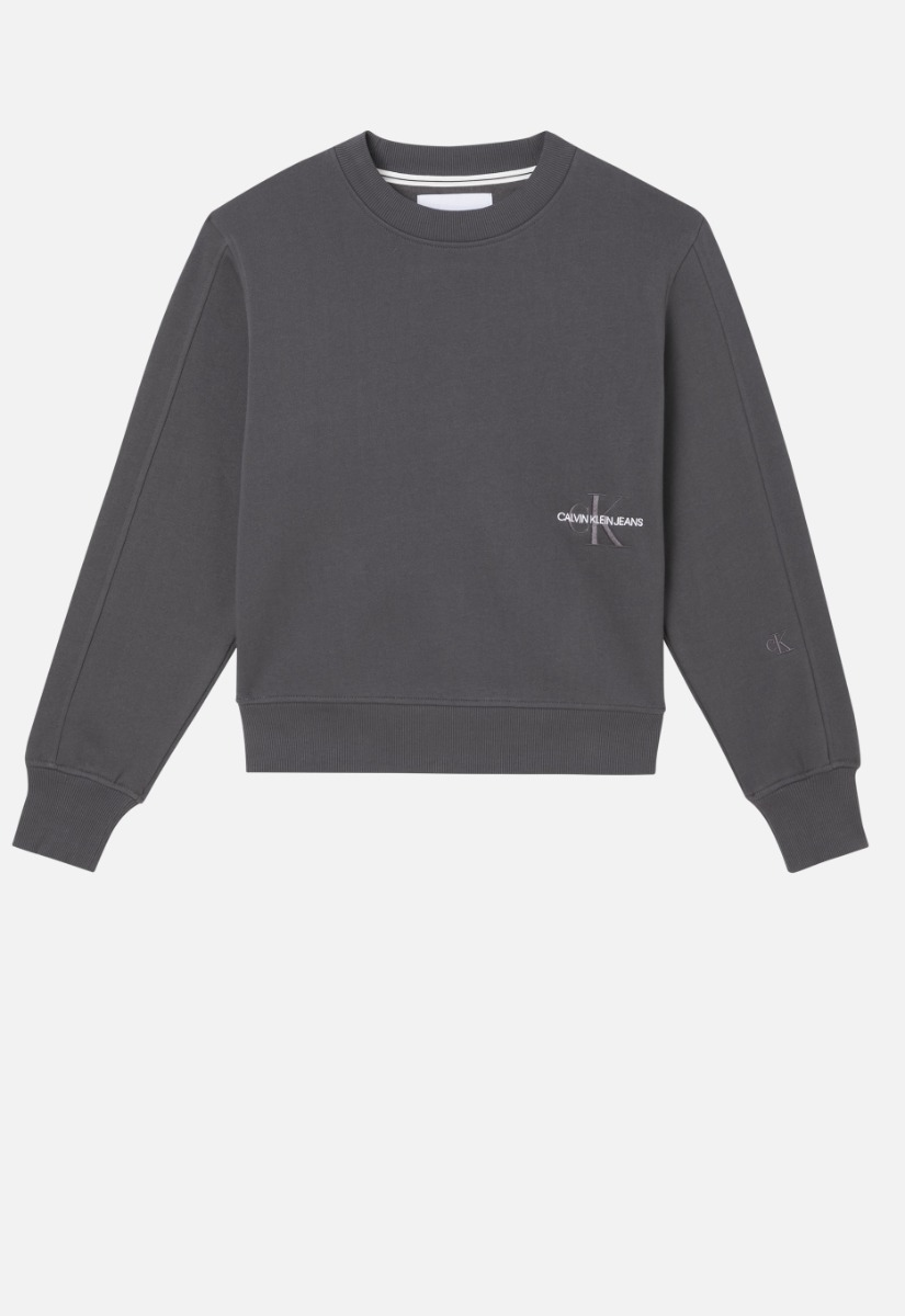 Calvin Klein Off Placed Monogram Crew Neck Sweater