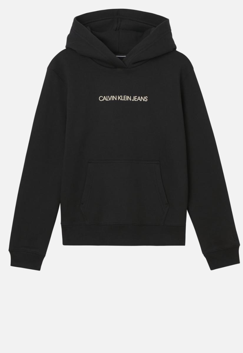 Calvin Klein Shrunken Instit Fleece Hooded Sweater