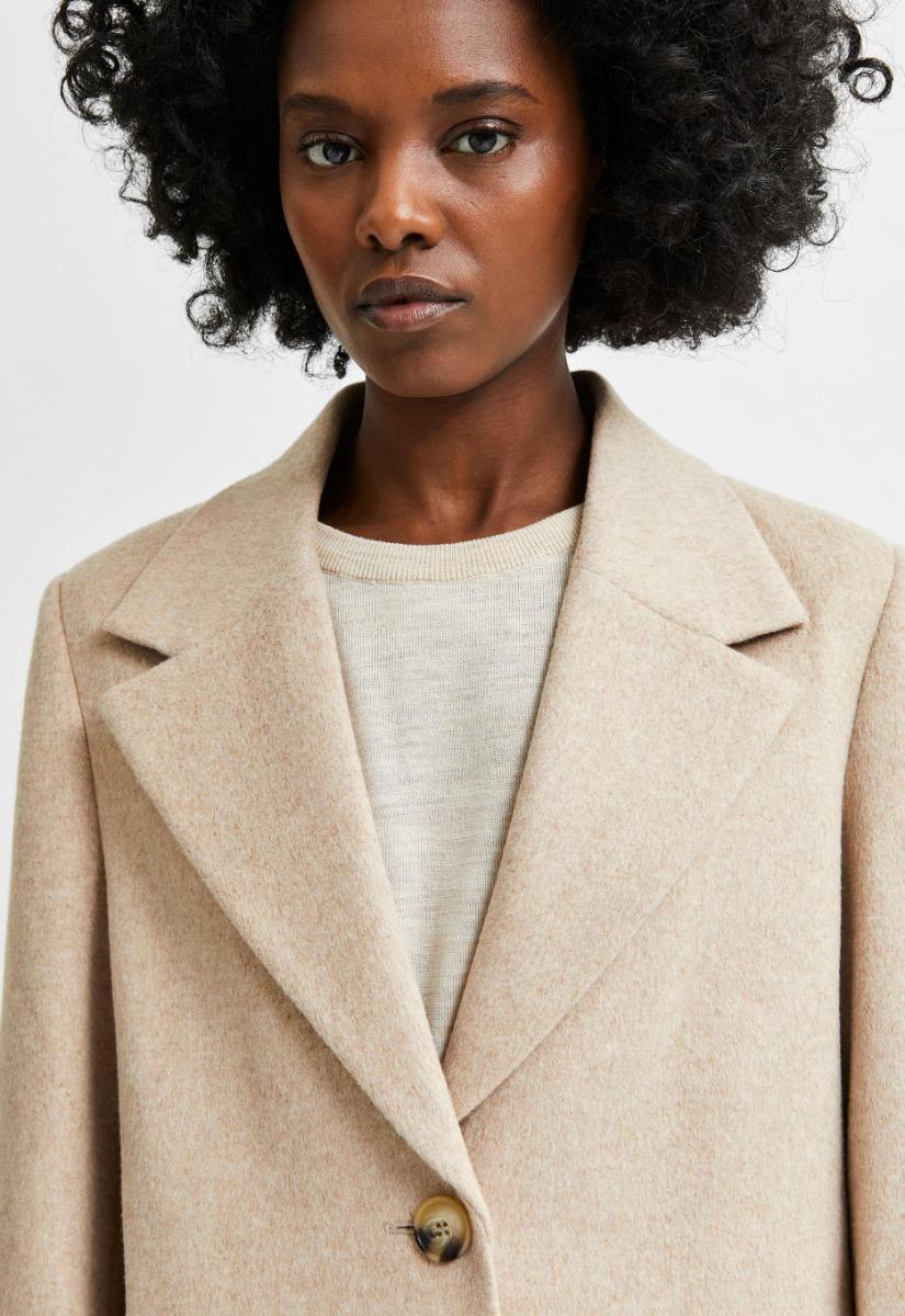 Selected Femme New Sasja Wool Coat - Jas