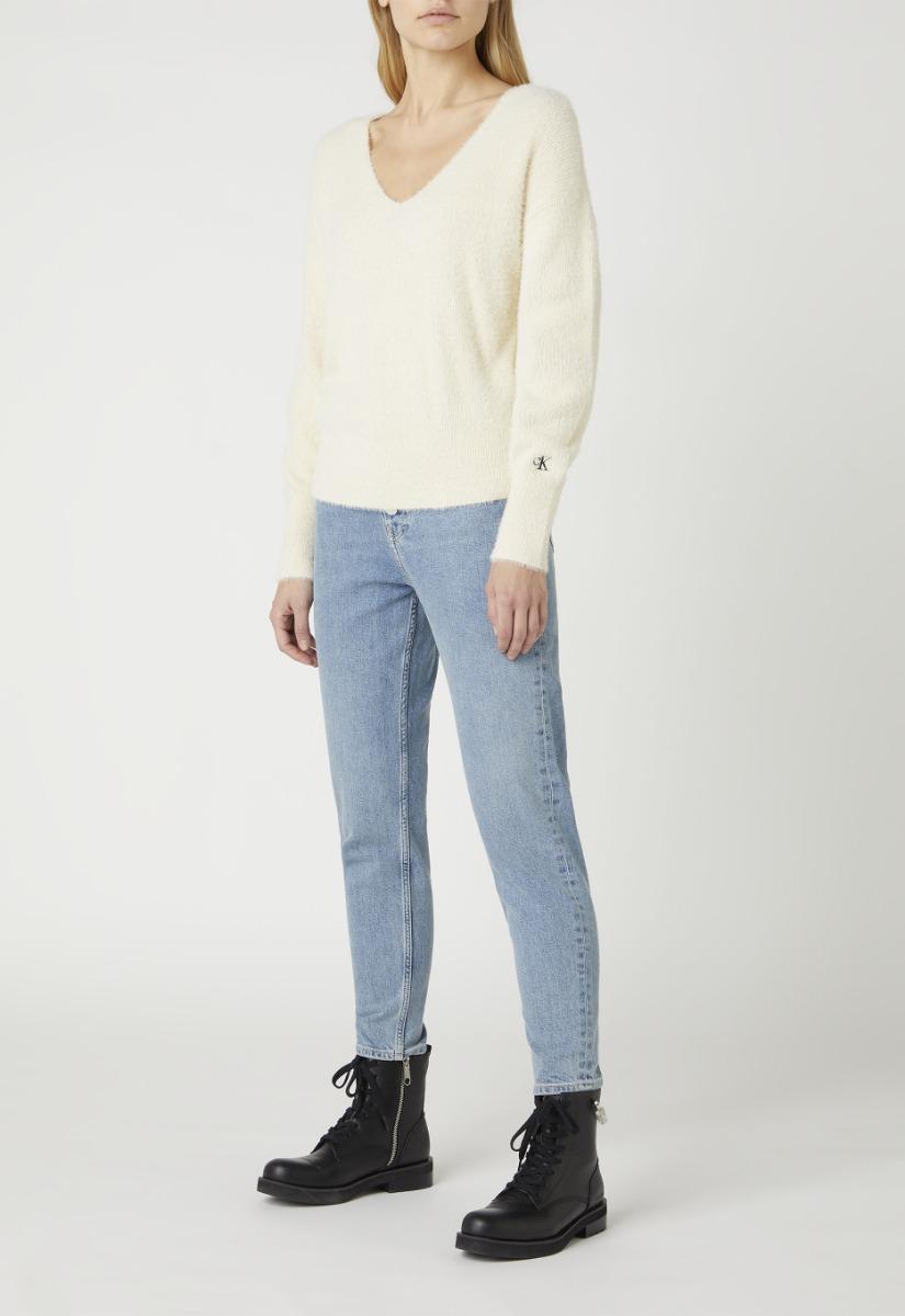 Calvin Klein Fluffy V-Neck Sweater