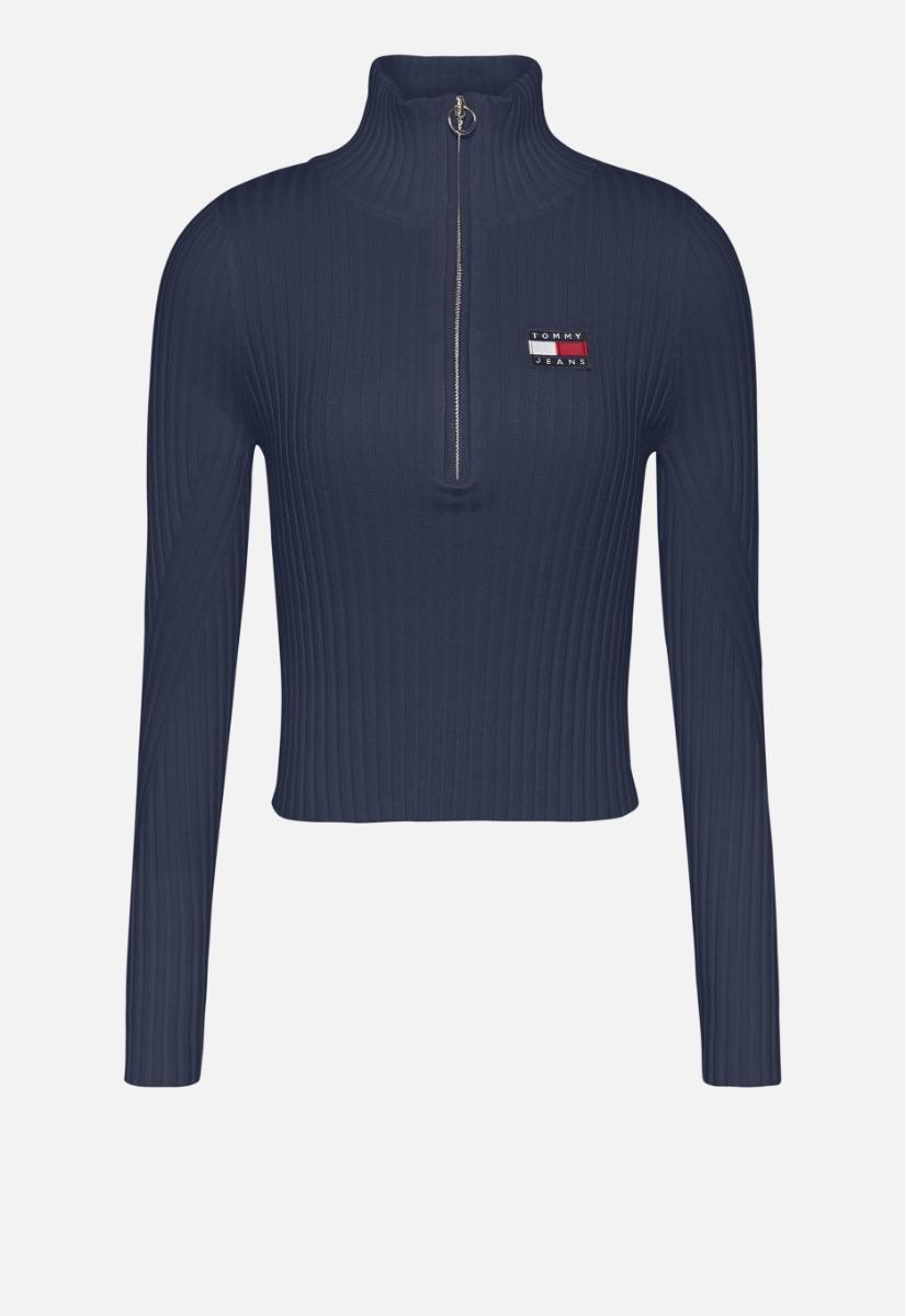 Tommy Jeans Tjw Half Zip Thru Sweater Coltrui