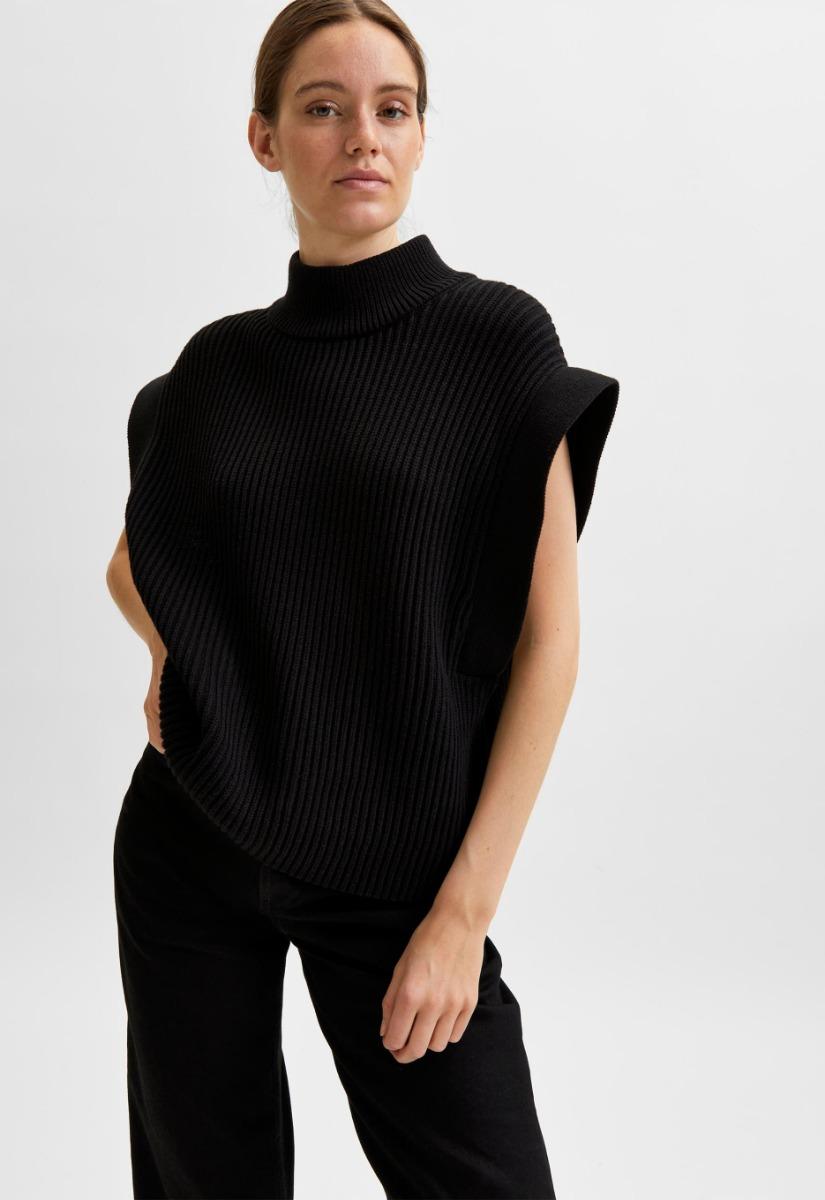 Selected Fray knit highneck