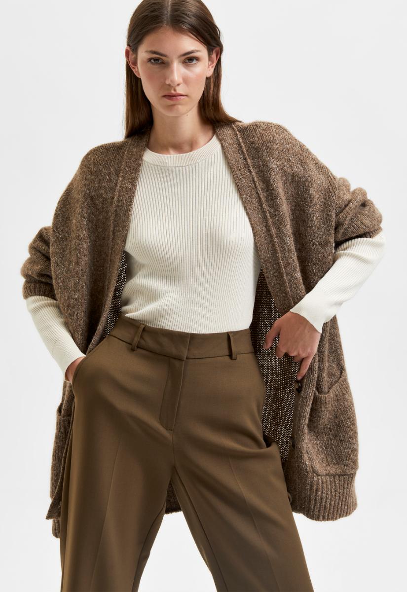 Selected Femme Olive Cardigan Vest