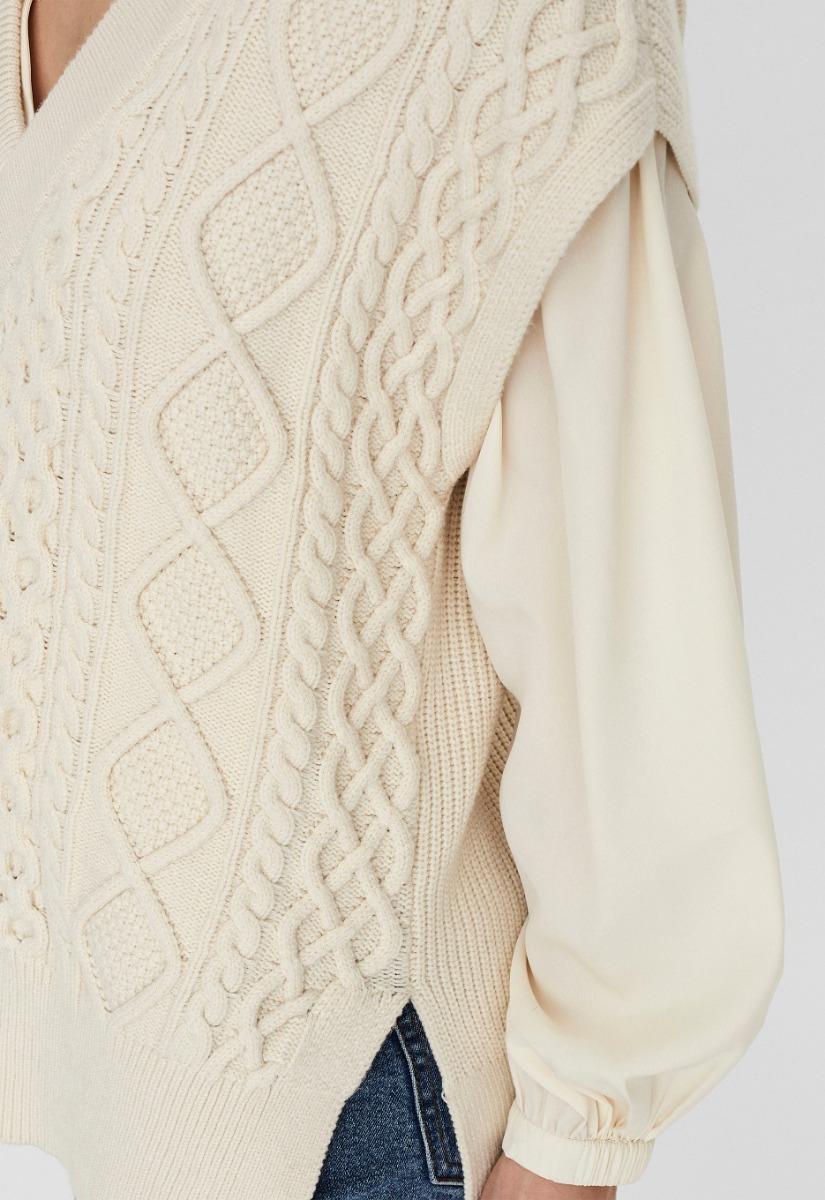 Vero Moda Row Sl Waistcoat Knit - Spencer