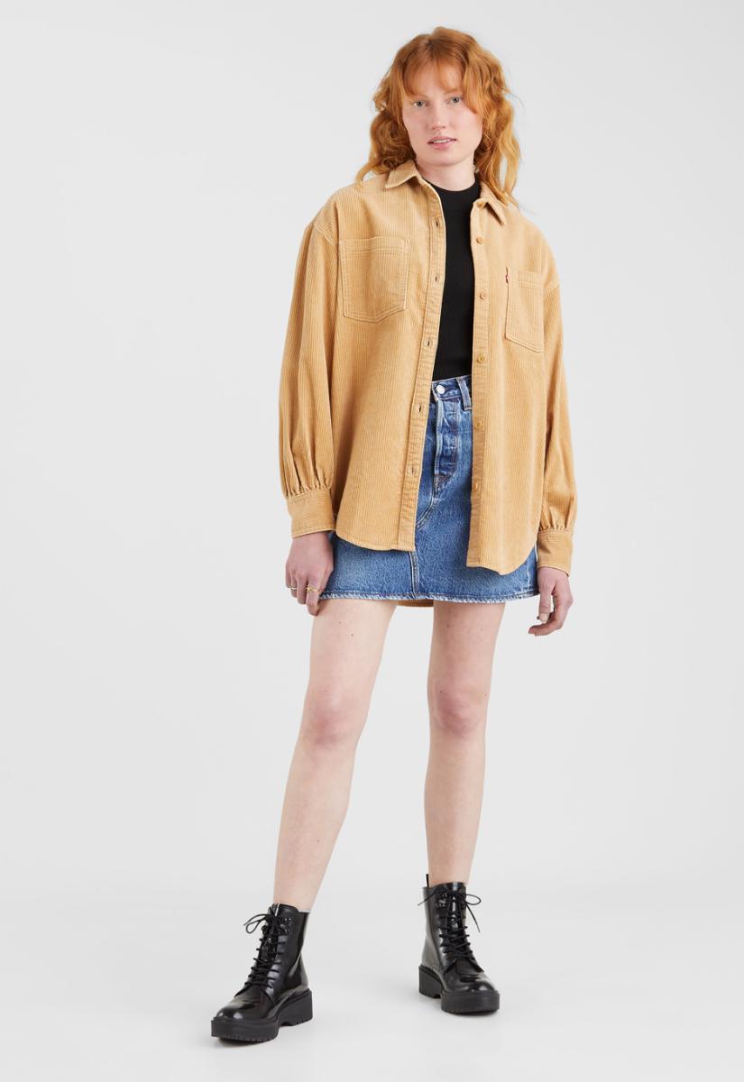 Levi's Remi Utility Shirt Blouse Lange Mouw