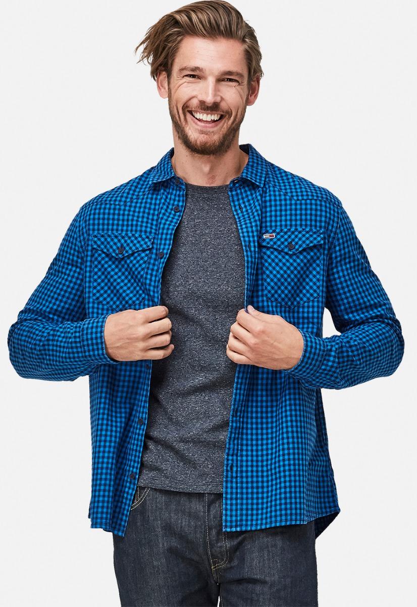 Tommy Jeans DM0DM08779 Gingham Western Overhemd