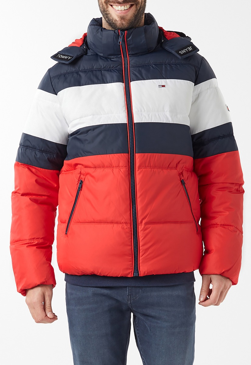 Tommy Jeans Rugby Stripe Puffer Jas